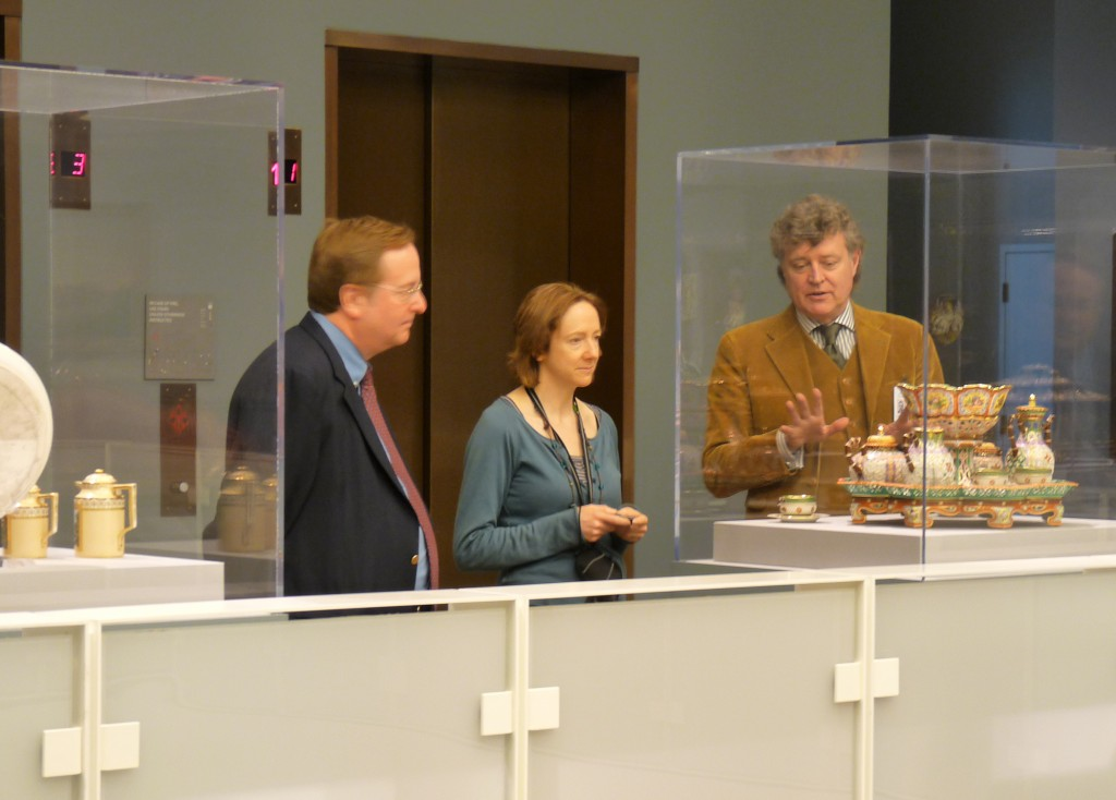 Brad Taylor, Visiting Scholar Sharon MacDonald and Director Graham Beal at the DIA