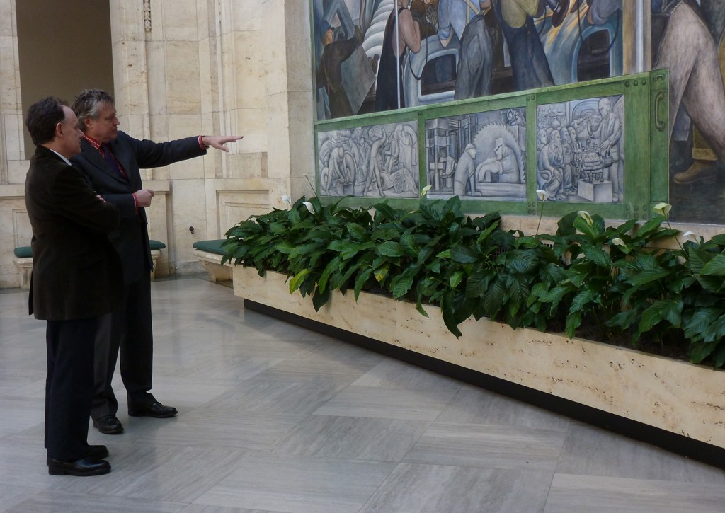 MSP Visiting Scholar Mark O'Neill and DIA Director Graham Beal at the DIA