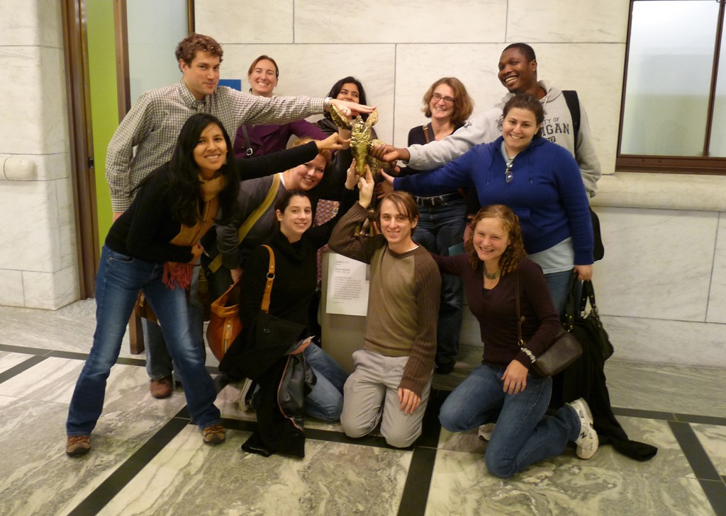 MSP09 cohort with Renee Sentenis' bronze Donkey  at the DIA