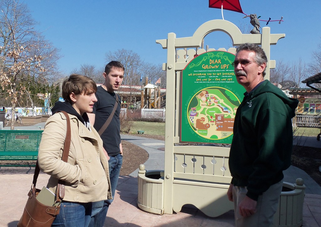 MSP12 Nick Krabbenhoeft and Naomi Herman-Aplet with Mitch Magdich at Toledo Zoo