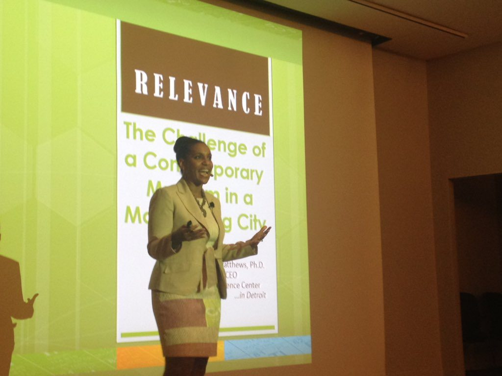 Dr. Tonya Matthews at Detroit museums and culture workshop